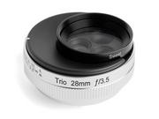 効果が異なる3つのレンズを切り替えて使える、焦点距離28mm・F3.5絞り固定のマニュアルレンズ「Trio 28」