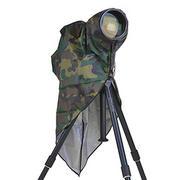 超望遠レンズ対応、カモフラージュと銀のリバーシブルレインカバー「レインカバー DG-CAMO」発売