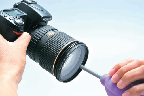 レンズ(フィルター)の拭き方1