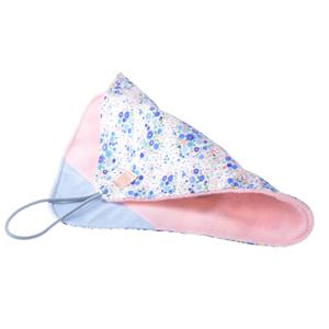 包 ラップクッション M 花柄 ブルー