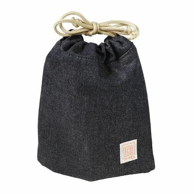 包(つつむ) 巾着ポーチ プレミアムデニム画像