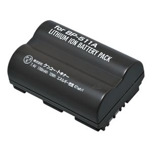 ENERGデジタルカメラ用バッテリー キヤノンBP-511A対応 C-#1015