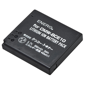 ENERGデジタルカメラ用バッテリー パナソニックDMW-BCE10対応 P-#1041