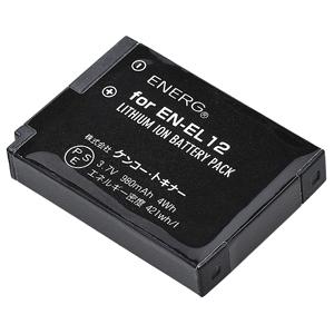 ENERGデジタルカメラ用バッテリー ニコンEN-EL12対応 N-#1048