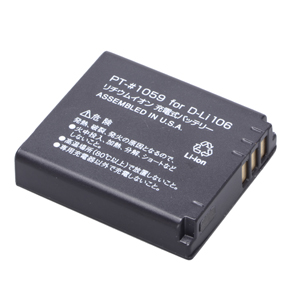 ENERGデジタルカメラ用バッテリー ペンタックスD-Li106対応 PT-#1059