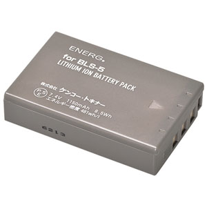ENERGデジタルカメラ用バッテリー オリンパスBLS-5対応 O-#1082