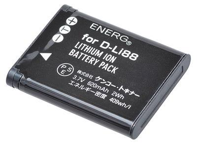 ENERGデジタルカメラ用バッテリー ペンタックスD-Li88対応 PT-#1055画像
