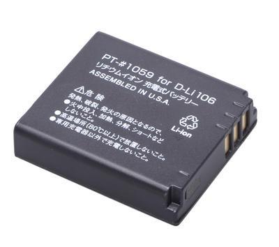 ENERGデジタルカメラ用バッテリー ペンタックスD-Li106対応 PT-#1059画像