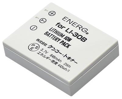ENERGデジタルカメラ用バッテリー オリンパスLI-30B対応 O-#1079画像