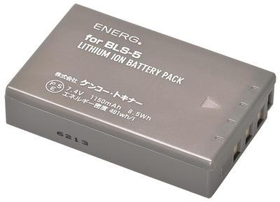 ENERGデジタルカメラ用バッテリー オリンパスBLS-5対応 O-#1082画像