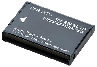 ENERGデジタルカメラ用バッテリー ニコンEN-EL19対応 N-#1083画像