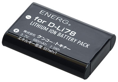ENERGデジタルカメラ用バッテリー ペンタックスD-Li78対応 PT-#1089画像