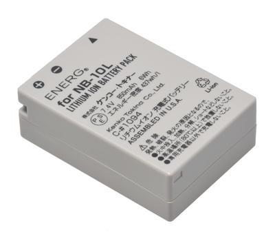 ENERGデジタルカメラ用バッテリー キヤノンNB-10L対応 C-#1094画像