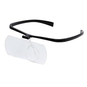 交換レンズつき両手が使えるメガネ拡大鏡II 1.6倍/2倍