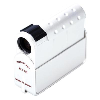 6×18 単眼鏡&ルーペ ホワイト画像