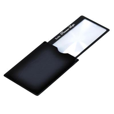 プレミアムルーペ  ストッパー付きカードタイプ[ブラック]画像